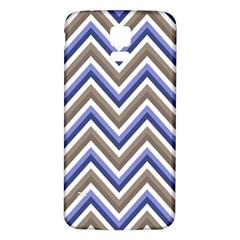 Chevron Blue Beige Samsung Galaxy S5 Back Case (white)