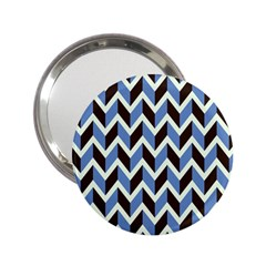 Chevron Blue Brown 2 25  Handbag Mirrors