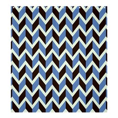 Chevron Blue Brown Shower Curtain 66  X 72  (large)