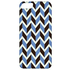 Chevron Blue Brown Apple Iphone 5 Classic Hardshell Case