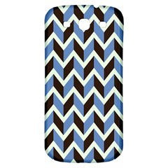 Chevron Blue Brown Samsung Galaxy S3 S Iii Classic Hardshell Back Case