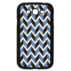 Chevron Blue Brown Samsung Galaxy Grand Duos I9082 Case (black)