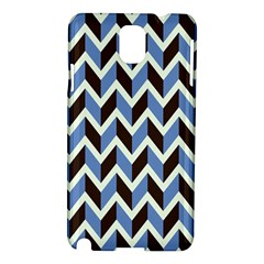 Chevron Blue Brown Samsung Galaxy Note 3 N9005 Hardshell Case