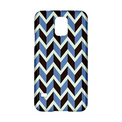 Chevron Blue Brown Samsung Galaxy S5 Hardshell Case