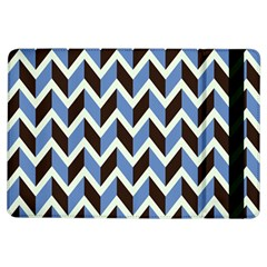 Chevron Blue Brown Ipad Air Flip