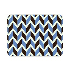 Chevron Blue Brown Double Sided Flano Blanket (mini)