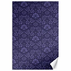 Damask Purple Canvas 20  X 30
