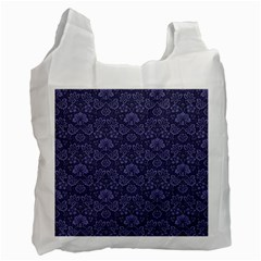 Damask Purple Recycle Bag (two Side)