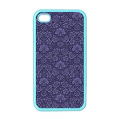 Damask Purple Apple Iphone 4 Case (color)