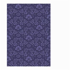 Damask Purple Small Garden Flag (two Sides)