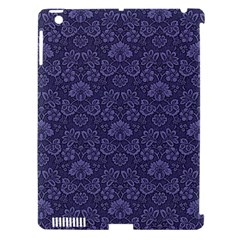 Damask Purple Apple Ipad 3/4 Hardshell Case (compatible With Smart Cover)