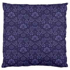 Damask Purple Large Cushion Case (two Sides)