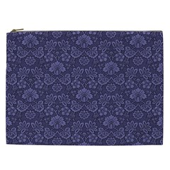 Damask Purple Cosmetic Bag (xxl)