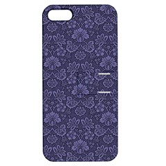 Damask Purple Apple Iphone 5 Hardshell Case With Stand