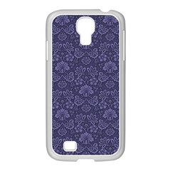 Damask Purple Samsung Galaxy S4 I9500/ I9505 Case (white)
