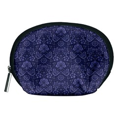 Damask Purple Accessory Pouches (medium)