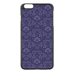 Damask Purple Apple Iphone 6 Plus/6s Plus Black Enamel Case