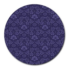Damask Purple Round Mousepads