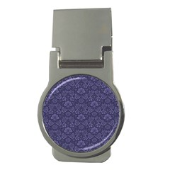 Damask Purple Money Clips (round)