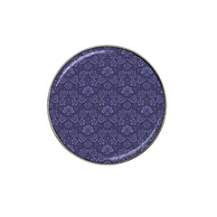 Damask Purple Hat Clip Ball Marker (10 Pack)
