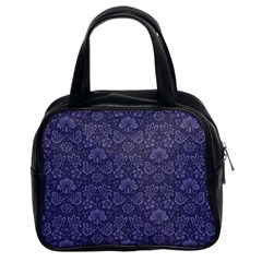 Damask Purple Classic Handbags (2 Sides)
