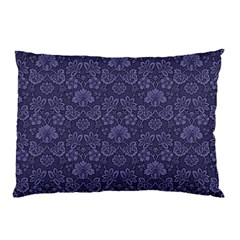 Damask Purple Pillow Case (two Sides)