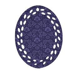 Damask Purple Ornament (oval Filigree)