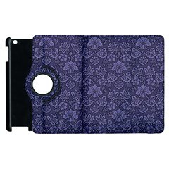 Damask Purple Apple Ipad 3/4 Flip 360 Case
