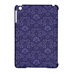 Damask Purple Apple Ipad Mini Hardshell Case (compatible With Smart Cover)