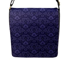 Damask Purple Flap Messenger Bag (l)