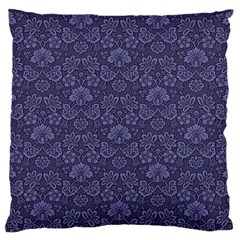Damask Purple Standard Flano Cushion Case (one Side)