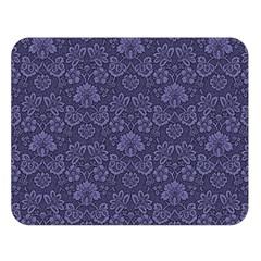 Damask Purple Double Sided Flano Blanket (large)