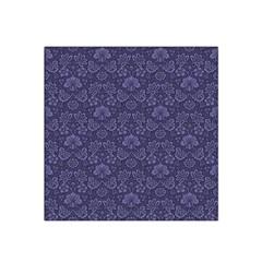 Damask Purple Satin Bandana Scarf