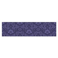 Damask Purple Satin Scarf (oblong)