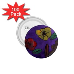 Flowers 1 75  Buttons (100 Pack)