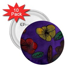 Flowers 2 25  Buttons (10 Pack)
