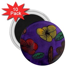Flowers 2 25  Magnets (10 Pack)