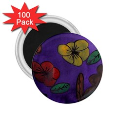 Flowers 2 25  Magnets (100 Pack)