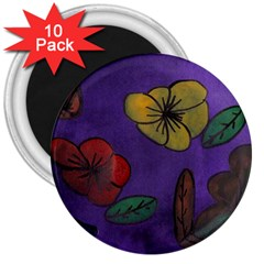 Flowers 3  Magnets (10 Pack)