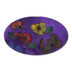 Flowers Oval Magnet