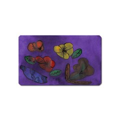 Flowers Magnet (name Card)