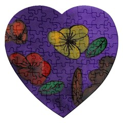 Flowers Jigsaw Puzzle (heart)