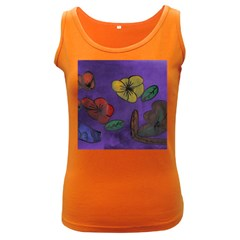 Flowers Women s Dark Tank Top