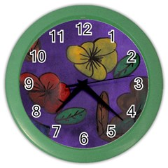 Flowers Color Wall Clocks