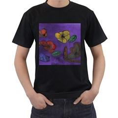 Flowers Men s T Shirt (black)