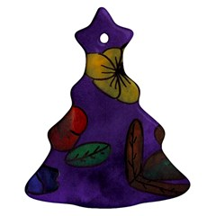 Flowers Christmas Tree Ornament (two Sides)