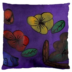 Flowers Large Cushion Case (two Sides)