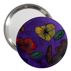 Flowers 3  Handbag Mirrors