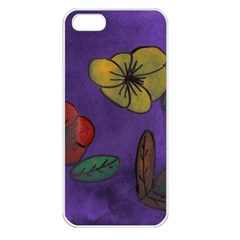 Flowers Apple Iphone 5 Seamless Case (white)