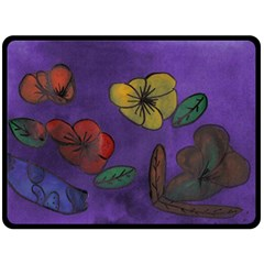 Flowers Double Sided Fleece Blanket (large)